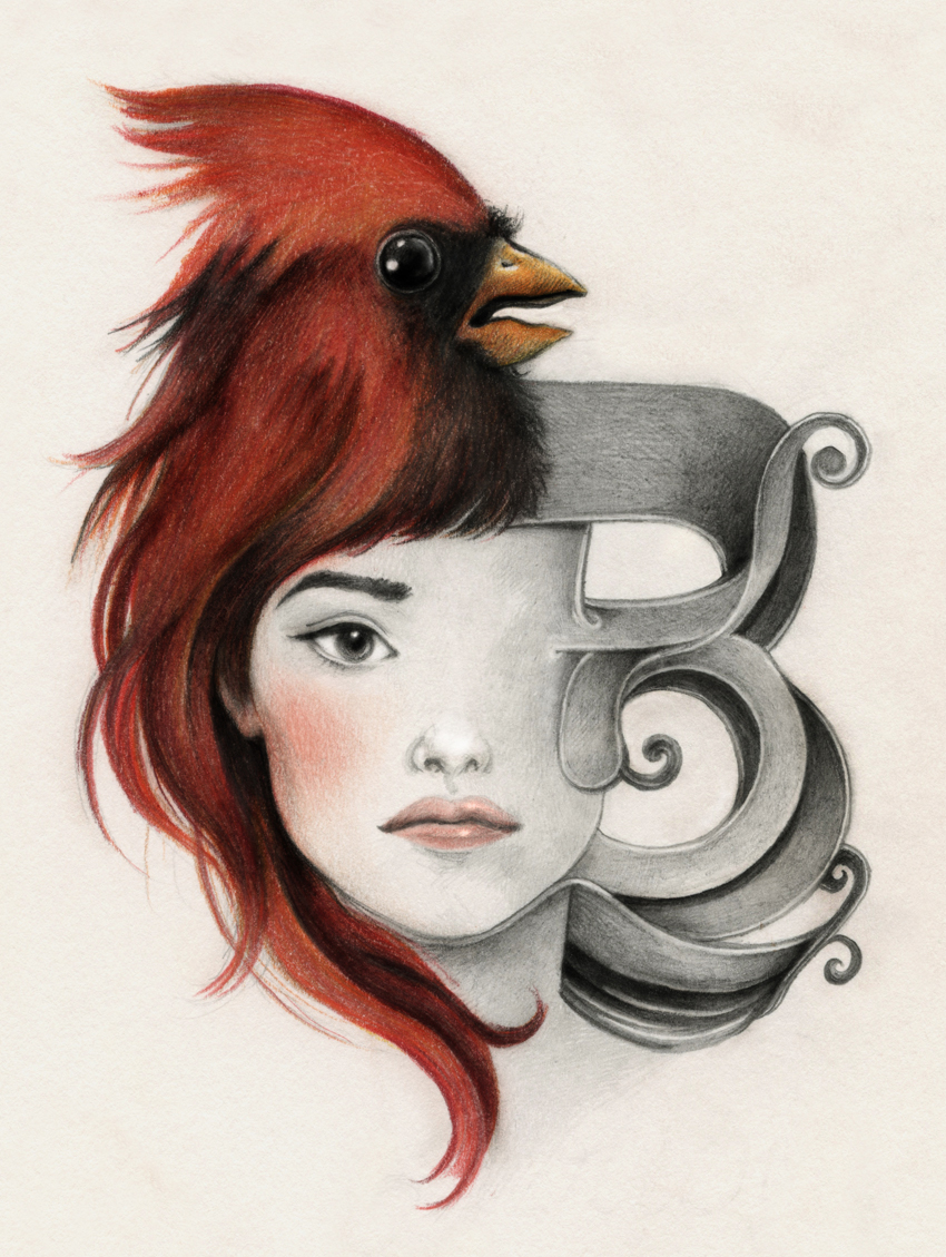 bird u2022 letter u2022 face laura serra
