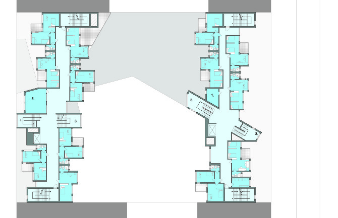 GRAD DORM BROOKLYN NY  WOLFGANG GROUP - Architecture Design Floor Plans