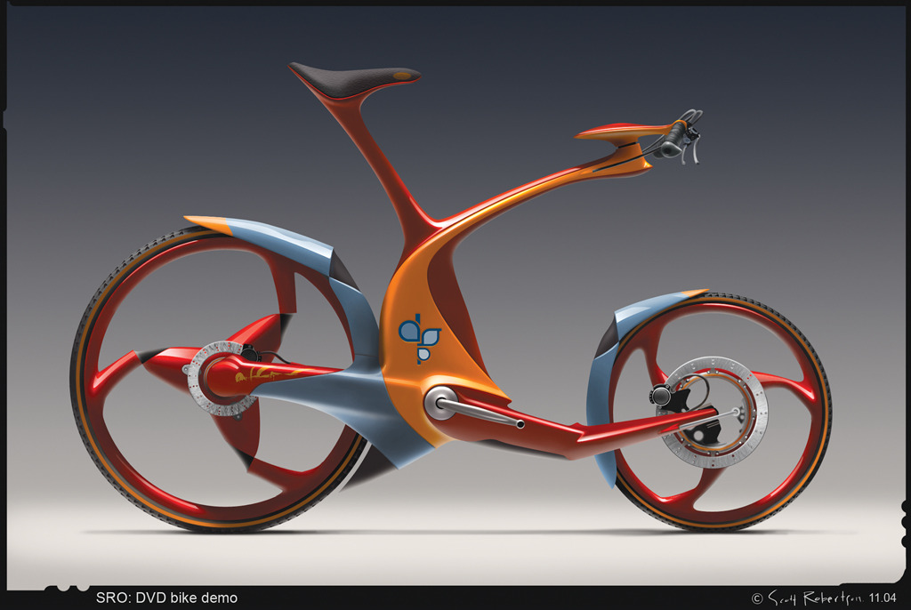 Conceptual bikes drawthrough the personal and for Innovative industrial design products